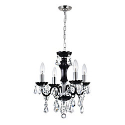CWI Lighting Princeton 14 inch Four Light Mini Pendant with Chrome Finish