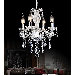 Princeton 14-inch Four Light Pendant with Chrome Finish
