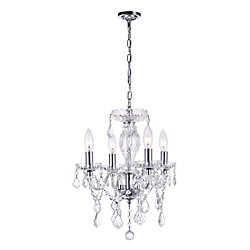 Princeton 14 inch 4 Light Mini Pendant with Chrome Finish