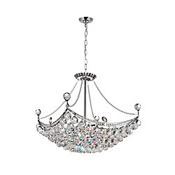 Jasmine 20 inch 8 Light Chandelier with Chrome Finish