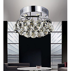 Queen 11 inch 3 Light Flush Mount with Chrome Finish