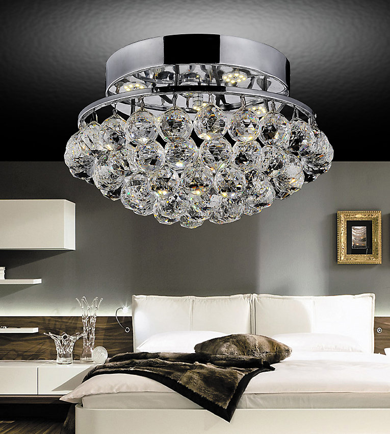 Queen 14-inch 4 Light Flush Mount with Chrome Finish