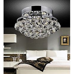 CWI Lighting Queen 14-inch 4 Light Flush Mount with Chrome Finish