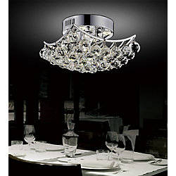 Queen 14 inch 4 Light Flush Mount with Chrome Finish