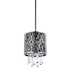 CWI Lighting Tresemme 6 inch Single Light Mini Pendant with Satin Nickel Finish