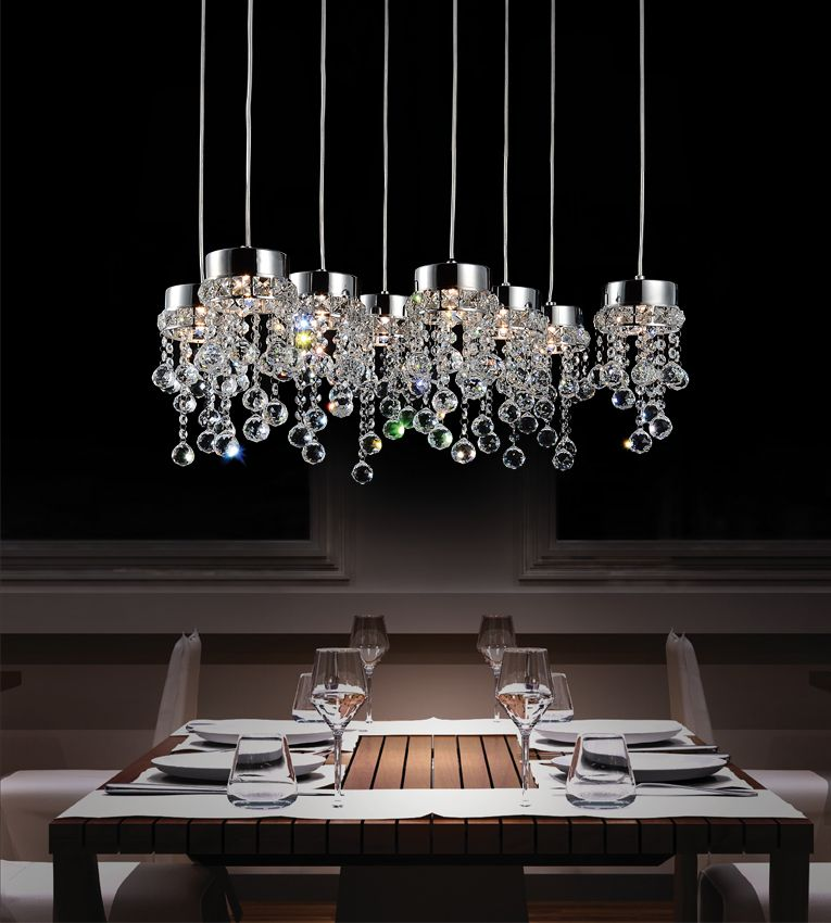 CWI Lighting Monica 26 inch 8 Light Chandelier with Chrome Finish