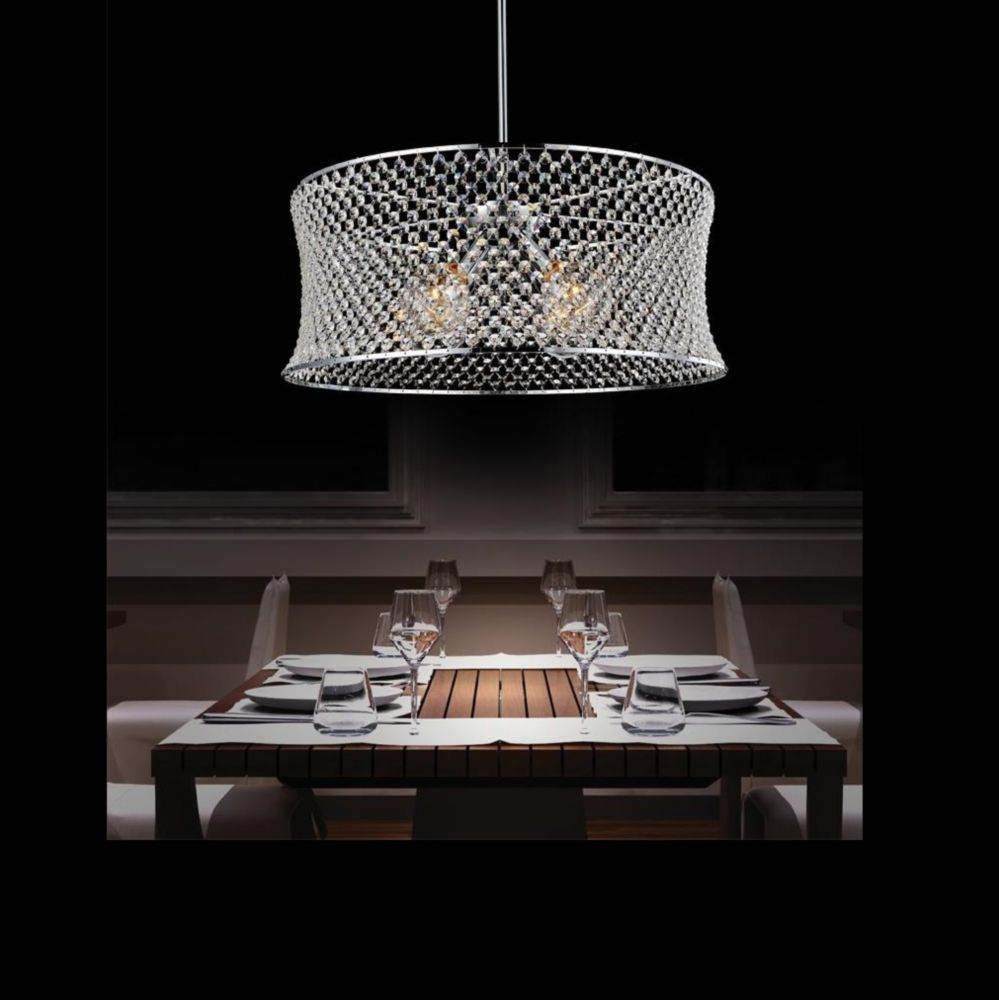 CWI Lighting Christie 24 inch 3 Light Chandelier with Chrome Finish