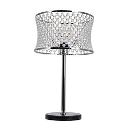 CWI Lighting Christie 12 inch 1 Light Table Lamp with Chrome Finish