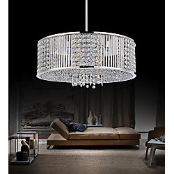 Sarina 18 inch 9 Light Chandelier with Chrome Finish