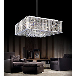 CWI Lighting Sarina 20 inch 12 Light Chandelier with Chrome Finish