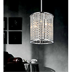 CWI Lighting Belle 8 inch 3 Light Mini Pendant with Chrome Finish