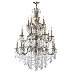 CWI Lighting Brass 40 inch 24 Light Chandelier with Antique Brass Finish