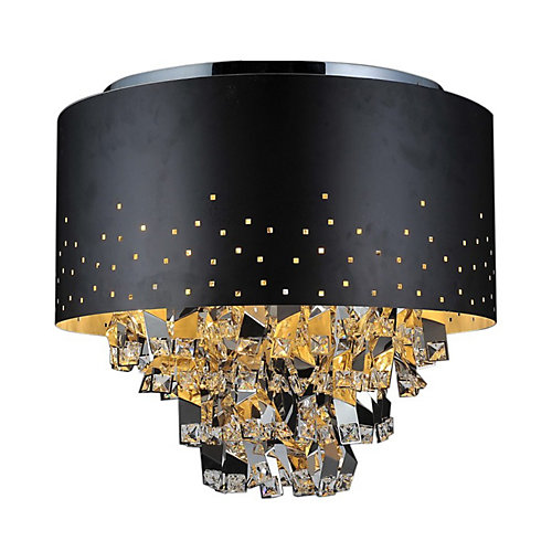 Carmella 18 inch 5 Light Flush Mount with Black Finish