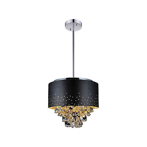 Carmella 24 inch 9 Light Chandelier with Black Finish