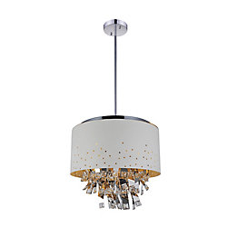 Carmella 24 inch 9 Light Chandelier with White Finish