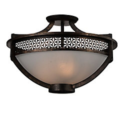 Pollett 21 inch 3 Light Flush Mount with Golden Bronze Finish