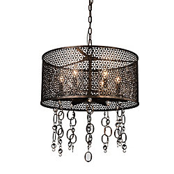 Pollett 20 inch 6 Light Chandelier with Golden Bronze Finish