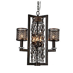 Pollett 22 inch 6 Light Chandelier with Golden Bronze Finish