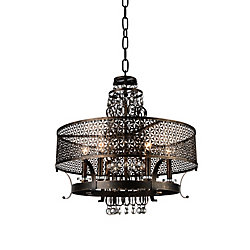 Pollett 24 inch 6 Light Chandelier with Golden Bronze Finish
