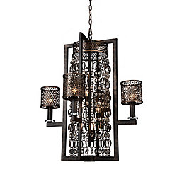 Pollett 27 inch 8 Light Chandelier with Golden Bronze Finish