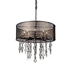 Pollett 28 inch 8 Light Chandelier with Golden Bronze Finish