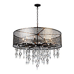 Pollett 36 inch 10 Light Chandelier with Golden Bronze Finish