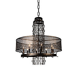 Pollett 19 inch 8 Light Chandelier with Golden Bronze Finish