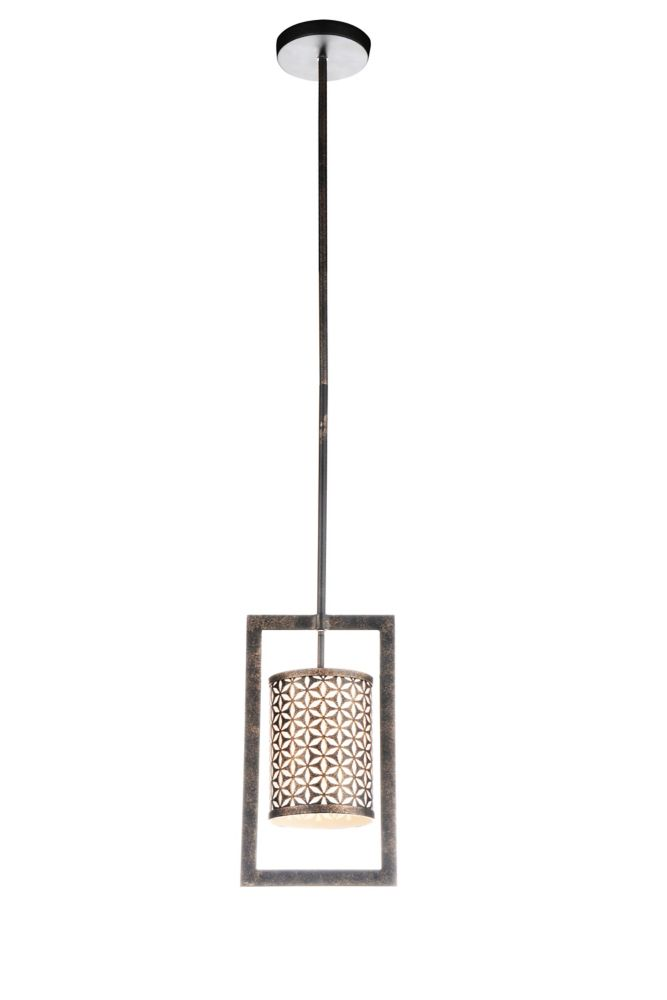 CWI Lighting Pollett 7 inch 1 Light Mini Pendant with Golden Bronze Finish