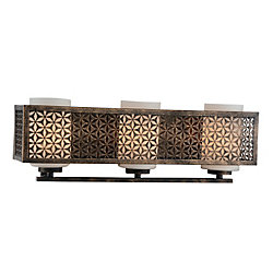 Pollett 21 inch 3 Light Wall Sconce with Golden Bronze Finish