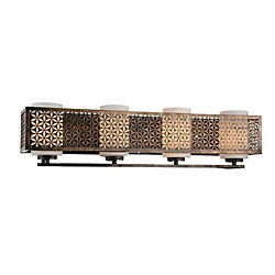 Pollett 29 inch 4 Light Wall Sconce with Golden Bronze Finish