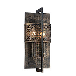 Pollett 5 inch 2 Light Wall Sconce with Golden Bronze Finish