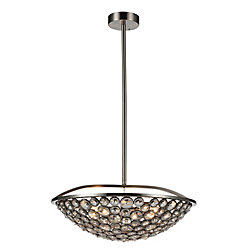 Wallula 21 inch 5 Light Chandelier with Satin Nickel Finish