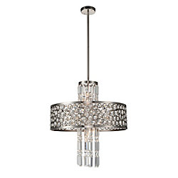 Wallula 24 inch 12 Light Chandelier with Satin Nickel Finish