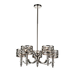 Wallula 27 inch 5 Light Chandelier with Satin Nickel Finish