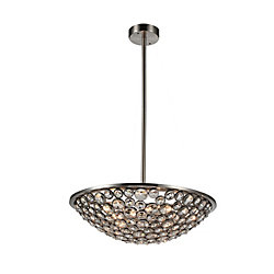 Wallula 28 inch 5 Light Chandelier with Satin Nickel Finish
