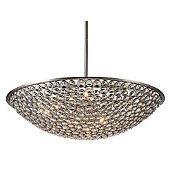 Wallula 36 inch 10 Light Chandelier with Satin Nickel Finish