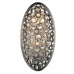 Wallula 5 inch 2 Light Wall Sconce with Satin Nickel Finish