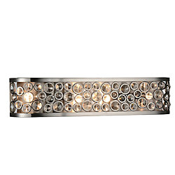 Wallula 26 inch 4 Light Wall Sconce with Satin Nickel Finish
