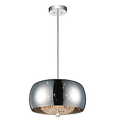 Movement 20 inch Six Light Chandelier with Chrome Finish