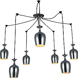 Merlot 30 inch 7 Light Chandelier with Chrome Finish