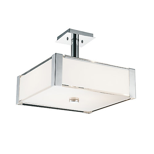 Lucie 17 inch 4 Light Chandelier with Chrome Finish