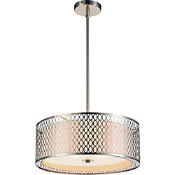 Mikayla 17 inch 3 Light Chandelier with Satin Nickel Finish