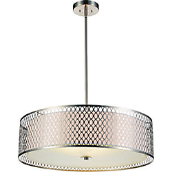 Mikayla 22-inch 3-Light Chandelier with Satin Nickel Finish