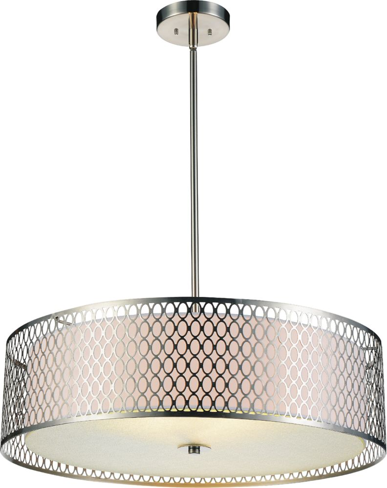 CWI Lighting Mikayla 22-inch 3-Light Chandelier with Satin Nickel Finish
