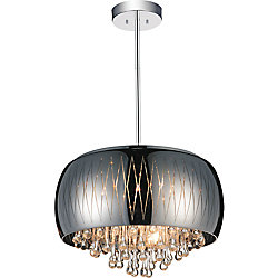 Movement 20 inch 6 Light Chandelier with Chrome Finish