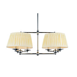 CWI Lighting Emma 35 inch 6 Light Chandeliers with Chrome Finish