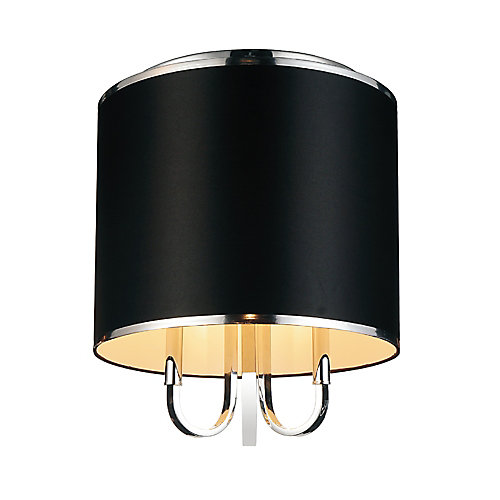 Orchid 16 inch 3 Light Flush Mounts with Chrome Finish