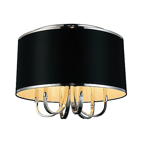 Orchid 24-inch 6 Light Flush Mounts with Chrome Finish