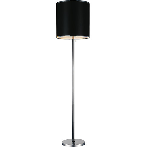 Orchid 16 inch Single Light Floor Lamps with Chrome Finish
