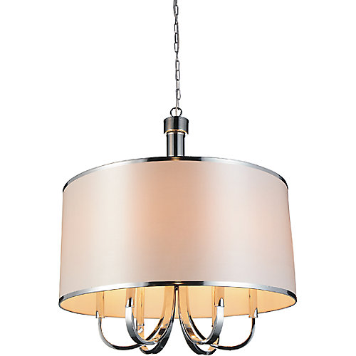 Orchid 24 inch 6 Light Chandeliers with Chrome Finish